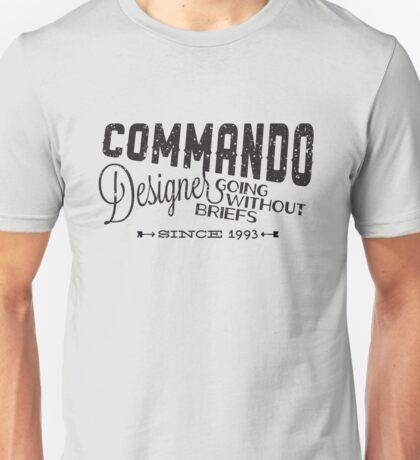 Commando Designer Unisex T-Shirt