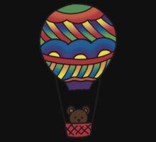 Teddy in a Hot Air Balloon One Piece - Short Sleeve