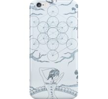 Original Ink Drawing (Sacred Geomancy) iPhone Case/Skin