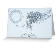 Original Ink Drawing (Balance) Greeting Card