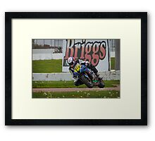 828 Marlin Johnson, 2013 CCS/ASRA, HEARTLAND PARK TOPEKA Framed Print