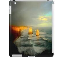 Sunsets, clouds approach the Limestone Rock Stacks iPad Case/Skin