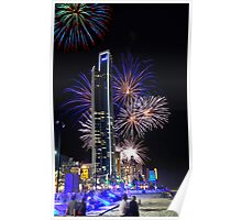 Fireworks at Surfers Poster