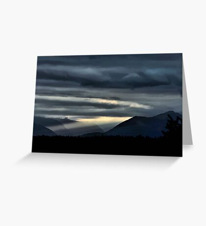Olympia Sunset Greeting Card