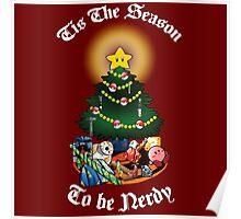 Geekin' Around the Christmas Tree Poster