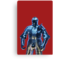 Blue Knight Stencil Canvas Print