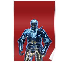 Blue Knight Stencil Poster