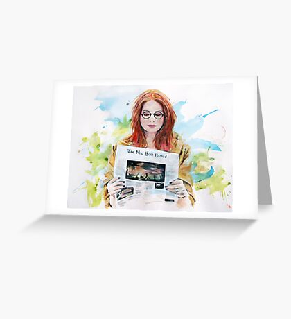 Doctor Who: Pond in the park Greeting Card