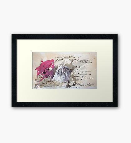 A Study in Pink - Sherlock Framed Print