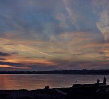 Jet Stream Sunset by Rod Raglin