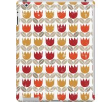 red tulips in rows iPad Case/Skin