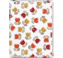 messy red tulips iPad Case/Skin