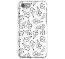 messy ice cream monochrome pattern iPhone Case/Skin