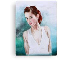 The Lady in White Canvas Print
