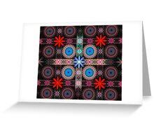 Flower Tile Grid Greeting Card