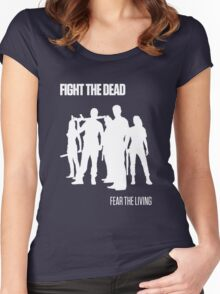 Fight the Dead T-Shirt [White Stencil] Women's Fitted Scoop T-Shirt