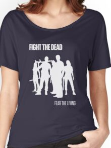 Fight the Dead T-Shirt [White Stencil] Women's Relaxed Fit T-Shirt