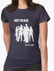 Fight the Dead T-Shirt [White Stencil] Womens Fitted T-Shirt