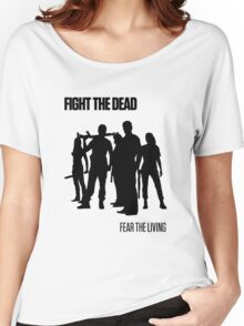 Fight the Dead T-Shirt [Black Stencil] Women's Relaxed Fit T-Shirt