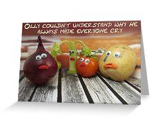 Onion tears Greeting Card