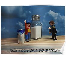 A salt and battery  Poster