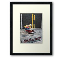 This nut was driving her right up the wall Framed Print
