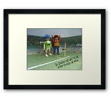 Watching the match Framed Print