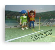 Watching the match Canvas Print