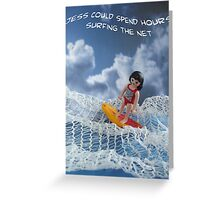 Surfing the net Greeting Card