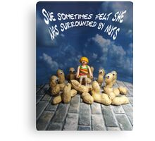 Surrounded by nuts - female Canvas Print