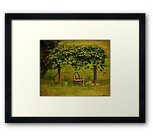 Grape Arbor Framed Print
