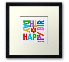 WE WISH YOU HAPPY BIRTHDAY Framed Print