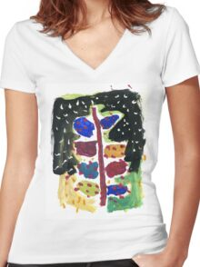 Christmas tree for all Women's Fitted V-Neck T-Shirt