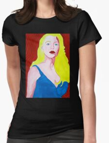 Pop Art Portrait of Blake Lively Womens Fitted T-Shirt
