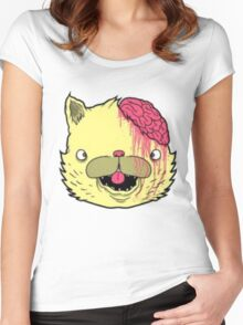brains cat Women's Fitted Scoop T-Shirt