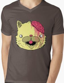 brains cat Mens V-Neck T-Shirt