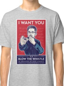 Edward Snowden I Want You Classic T-Shirt