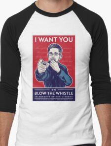 Edward Snowden I Want You Men's Baseball ¾ T-Shirt