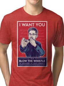 Edward Snowden I Want You Tri-blend T-Shirt