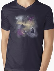 Trough Time and Space Mens V-Neck T-Shirt