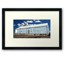 Wharf on Clouds Framed Print