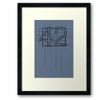 Hitchhiker's Guide to the Galaxy - 42 Framed Print
