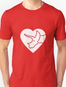 Dinosaur heart: Triceratops T-Shirt