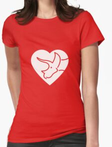 Dinosaur heart: Triceratops Womens Fitted T-Shirt