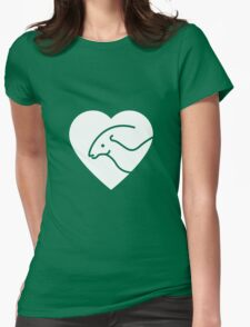 Dinosaur heart: Parasaurolophus Womens Fitted T-Shirt