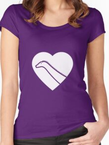 Dinosaur heart: Diplodocus Women's Fitted Scoop T-Shirt