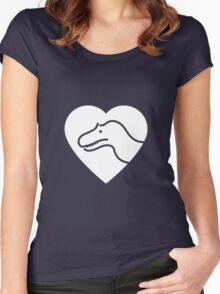 Dinosaur heart: Torvosaurus Women's Fitted Scoop T-Shirt