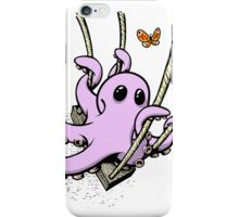 Octopus Swinging with Butterfly iPhone Case/Skin
