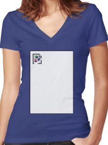 Broken Image Women's Fitted V-Neck T-Shirt