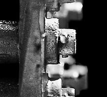 Bolts in black & white by Laurie Minor
